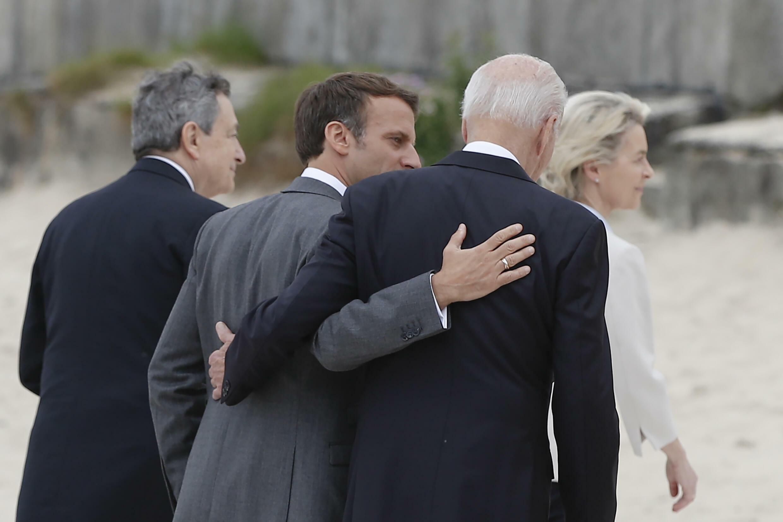 US President Joe Biden told allies like French President Emmanuel Macron at the G7 summit that 'America is back'