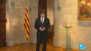 Le 4 octobre 2017, Carles Puigdemont a accusé le roi d'Espagne d'ignorer les aspirations des Catalans.