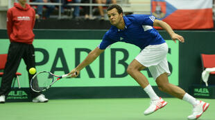 @Michal Cizek,AFP - Jo-Wilfried Tsonga a obtenu face à Jiri Vesely le point de la qualification pour la France