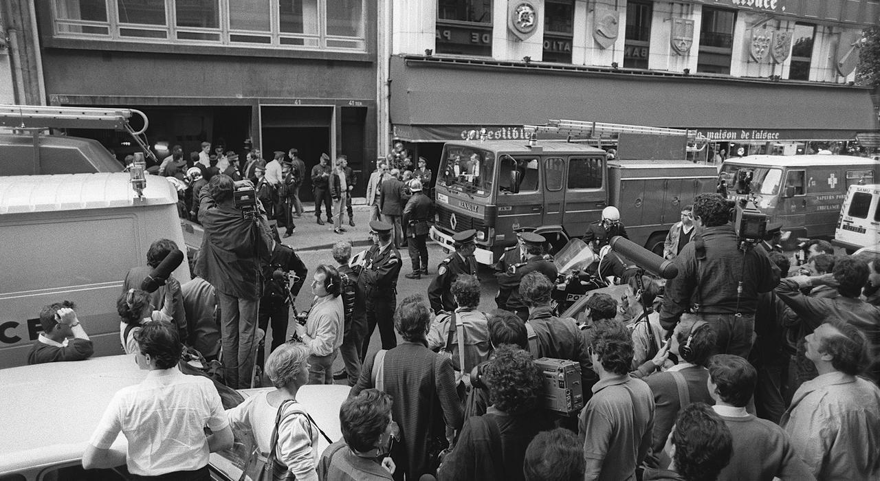 صورة أرشيفية لجادة الشانزيليزيه 16 سبتمبر 1984