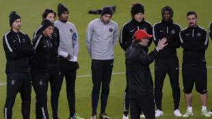 L'entraînement du PSG au Camp Nou à la veille du match contre le FC Barcelone.