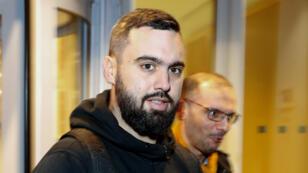 Éric Drouet, l'un des leaders des Gilets jaunes, le 23 décembre 2018, à Paris.