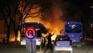 """اعتداء أنقرة الذي تبنته حركة """"صقور حرية كردستان"""" في فبراير من العام الجاري"""