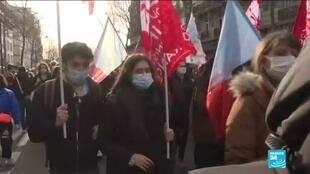 2021-01-21 10:12 French students protest poor conditions due to Covid-19 crisis as country's cases on the rise