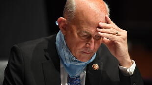 Republican congressman Louie Gohmert is seen at a congressional hearing with testimony from Attorney General Bill Barr on July 28 2020