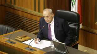 Nabih Berri, président de la Chambre des députés libanaise depuis 1992.
