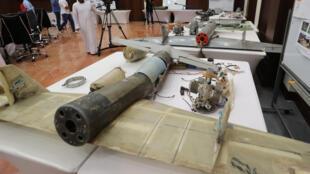 حطام طائرات لحوثيين استخدموها في اليمن في معارك ضد قوات التحالف بقيادة الإمارات والسعودية، 19 يونيو/حزيران 2018.