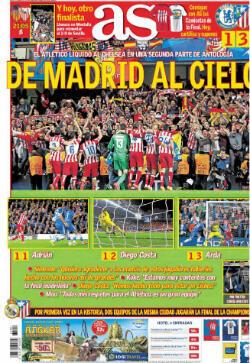 """""""De Madrid jusqu'au ciel"""" pour AS"""
