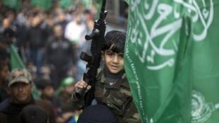 مسيرة لحماس في غزة