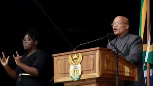Le président Jacob Zuma, lors d'un discours prononcé à Durban, le 21 mars 2016.