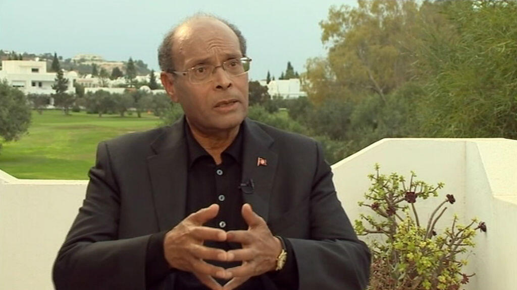 Moncef Marzouki, président tunisien sortant, candidat à sa réélection.