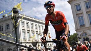 L'Italien Vicenzo Nibali lors du départ du Tour 2019, le 6 juillet à Bruxelles.