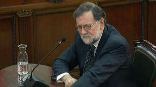 El expresidente del Gobierno español, Mariano Rajoy, da su testimonio ante el Tribunal Supremo en el caso de los doce líderes independentistas catalanes. 27 de de febrero de 2019.