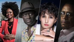 Les auteurs Roukiata Ouedraogo, Alain Mabanckou, Fatima Daas et Yasmina Khadra.