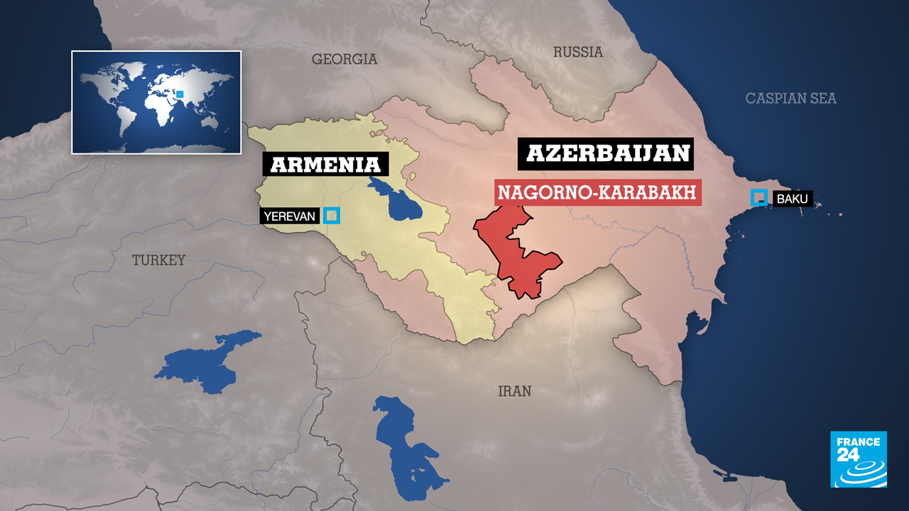 Fighting broke out between Armenian and Azerbaijani forces over the disputed separatist region of Nagorno-Karabakh on September 27.