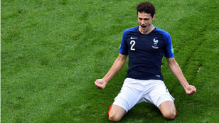 Benjamin Pavard célèbre son but face à l'Argentine, le 30 juin 2018.