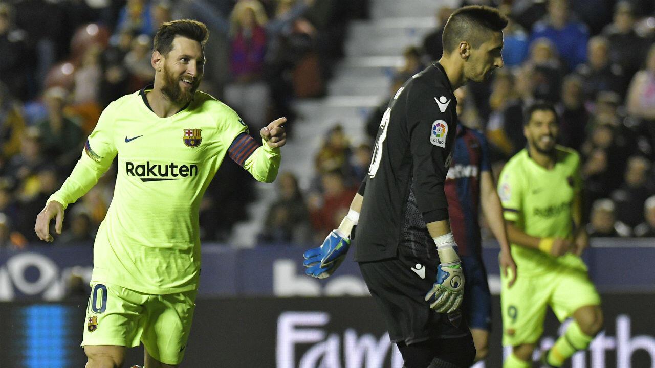 Lionel Messi a martyrisé la défense de Levante.