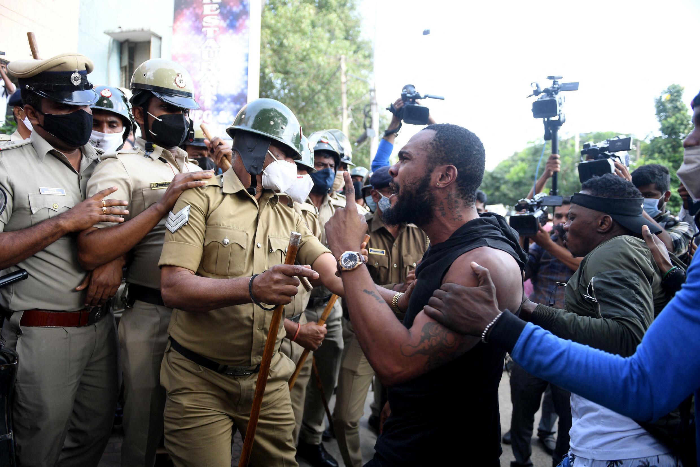 Bangalore india protest