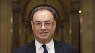 Le gouverneur de la Banque d'Angleterre Andrew Bailey, à Londres le 16 mars 2020