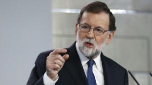Rajoy comparece para activar el artículo 155 de la Constitución. 21/10/2017