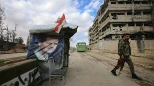 نقطة تفتيش للجيش السوري في حلب 3 ديسمبر 2016
