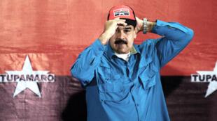 El presidente Nicolás Maduro asiste a un acto de campaña en Caracas el 3 de febrero de 2018.