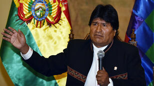 Le président bolivien Evo Morales répond à la presse au Quemado palace à La Paz, le 22 février 2016.