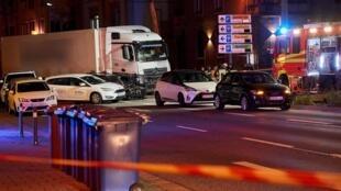 Les lieux de l'incident ont été bouclés par la police lundi 7 octobre à Limburg, en Allemagne.