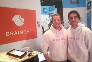 Alban Margain, 28 ans (gauche) et Jonathan Livescault, 29 ans, ont fondé ensemble Braineet.