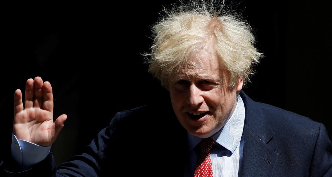 El primer ministro británico, Boris Johnson, en Downing Street tras el brote de la enfermedad por coronavirus, Londres, Reino Unido, el 20 de mayo de 2020.
