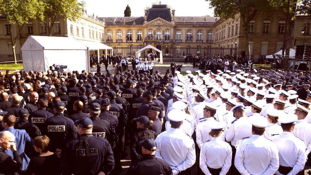 Le 17 juin, à la préfecture de Versailles, François Hollande a prononcé un discours lors de l'hommage national rendu aux deux policiers assassinés à Magnanville.