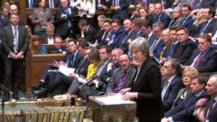 Theresa May, le 29 janvier 2019, à la Chambre des communes à Londres.
