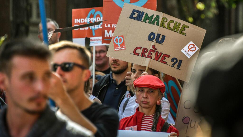 Des manifestants contre la réforme du Code du travail, le 12 septembre 2017 à Lille.