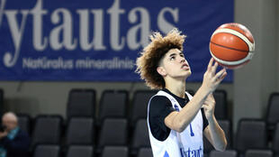 NBA prospect Lamelo Ball played for the Hawks in Australia last year