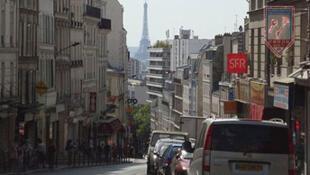 La rue de Belleville, à Paris
