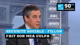 François Fillon a fait son mea culpa au sujet de la Sécurité sociale, mercredi 11 janvier 2017.