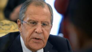 Le ministre russe des Affaires étrangères Sergueï Lavrov, le 10 septembre 2015, à Moscou