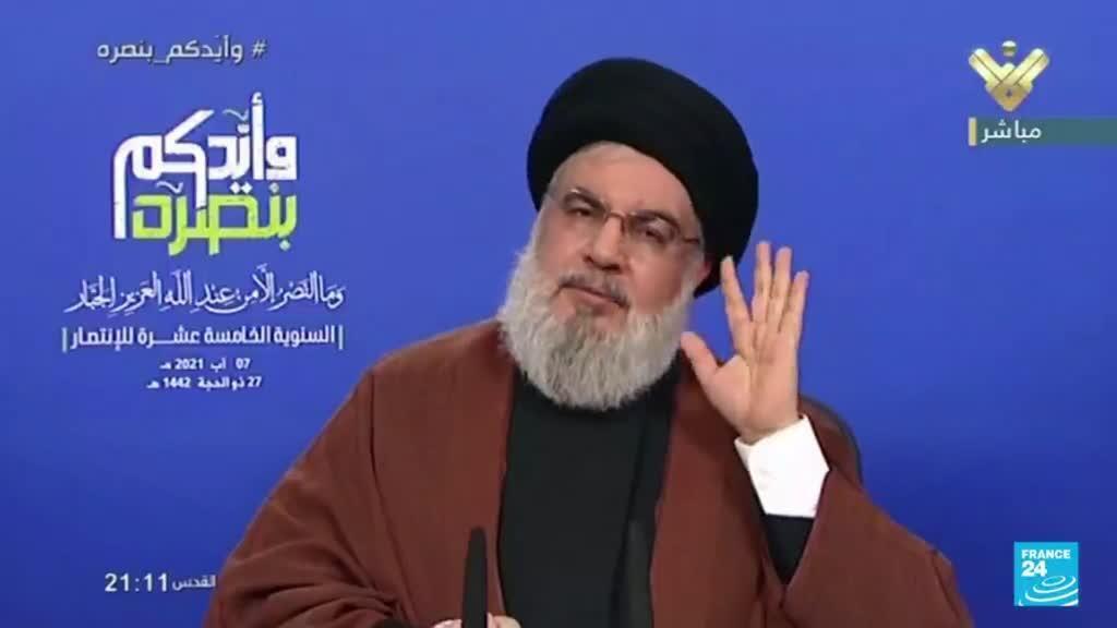 2021-08-08 22:08 Líbano: Hezbolá prometió respuesta proporcionada a cualquier ataque aéreo israelí