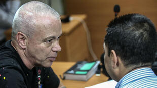 """John Jairo Velásquez Vásquez, también conocido como """"Popeye"""", ex lugarteniente de Pablo Escobar, después de ser capturado en Medellín, el 25 de mayo de 2018."""