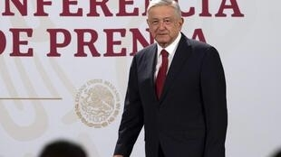 Mexican president Andres Manuel Lopez Obrador (pictured July 6, 2020 in a handout picture from Mexico's Presidency press office) will make his first foreign visit to meet US President Donald Trump, known for his anti-Mexico rhetoric