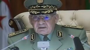 Le général Ahmed Gaïd Salah s'est adressé au peuple algérien à la télé mardi 5 mars.
