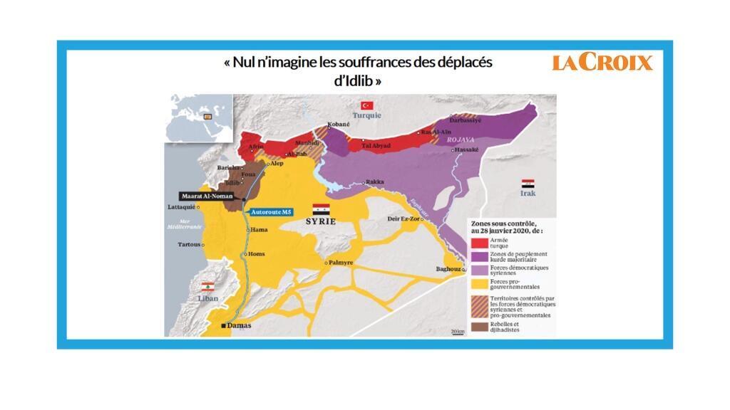 Les déplacés syriens dans le nord du pays.