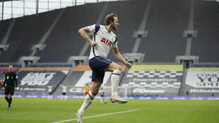 Tottenham striker Harry Kane celebrates