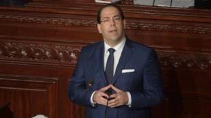 رئيس الحكومة التونسي يوسف الشاهد أمام البرلمان 12 تشرين الثاني 2018