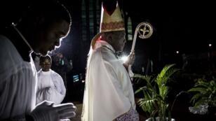 Mgr Fridolin Ambongo, l'archevêque de Kinshasa.