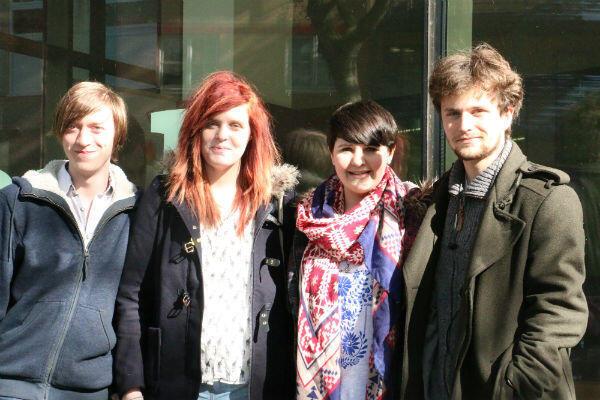 De gauche à droite : Simon Doherty, Rachel McArthur, Maisy Wright et Joseph Pearson