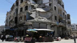 La majeure partie de la province d'Idleb échappe toujours au contrôle du régime syrien (illustration)