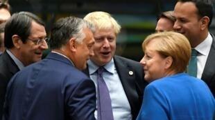 Des responsables européens, le 17 septembre2019, à Bruxelles.