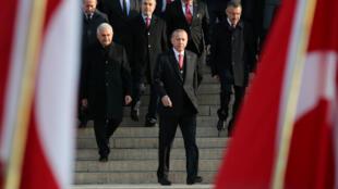 Le président Erdogan assiste à une cérémonie d'hommage à Mustapha Kemal Ataturk, le 10 novembre 2018.