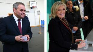 Xavier Bertrand (LR) et Marine Le Pen (FN) s'affrontent dans la région Nord - Pas-de-Calais - Picardie.